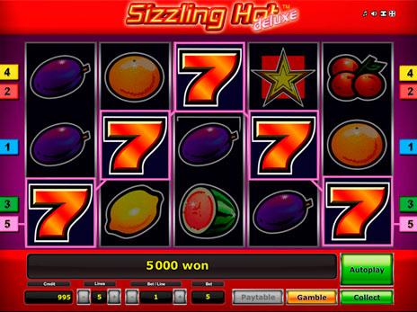 Игровой автомат Sizzling Hot в формате онлайн игры